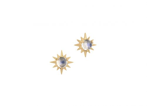 Celine Daoust Constellation Sun Moonstone Earring Stud set