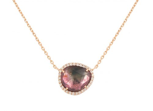 rose gold stella tourmaline and diamonds celine daoust
