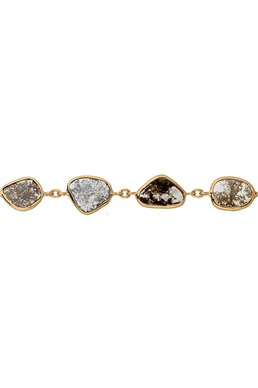celine daoust slice of the universe multi grey diamond slice chain bracelet