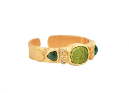 celine daoust totem tourmaline and diamonds open ring