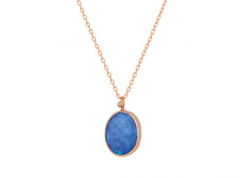 celine daoust one of a kind maya opal necklace