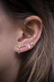 celine daoust geometrics clara earring studs