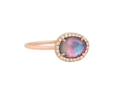 celine daoust light rose gold stella tourmaline and diamond ring