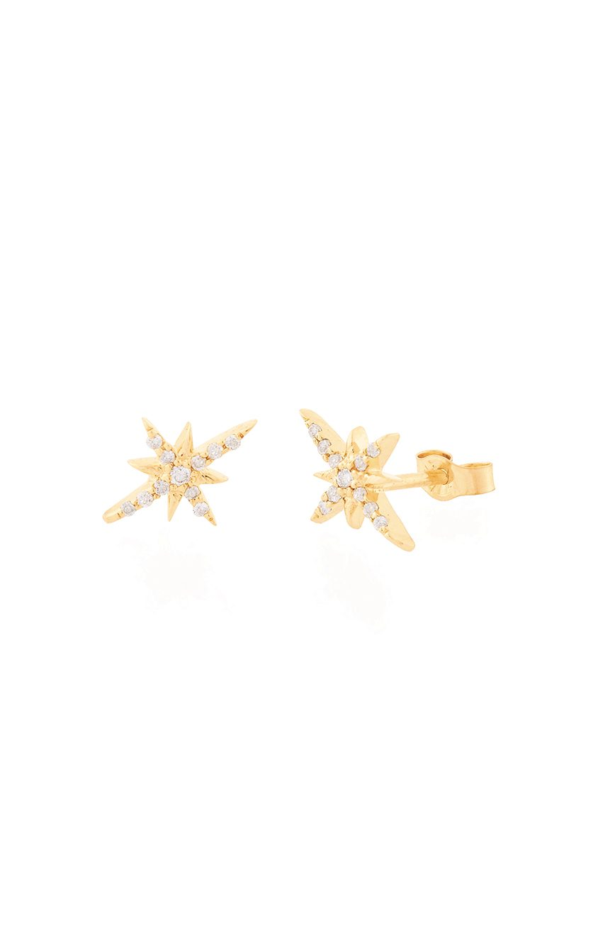Celine Daoust Rose Gold Stars And Universe North Star Stud Earrings