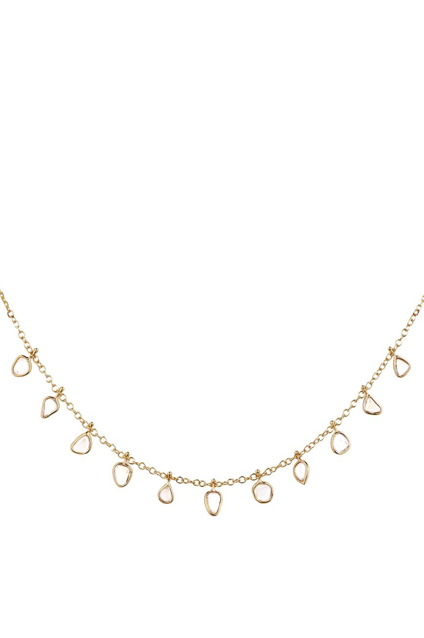 celine daoust slice of the universe multi dangling diamond slice necklace