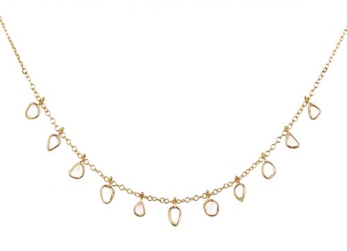 Celine Daoust Slice of the Universe Multi Dangling Diamond Slice Necklace