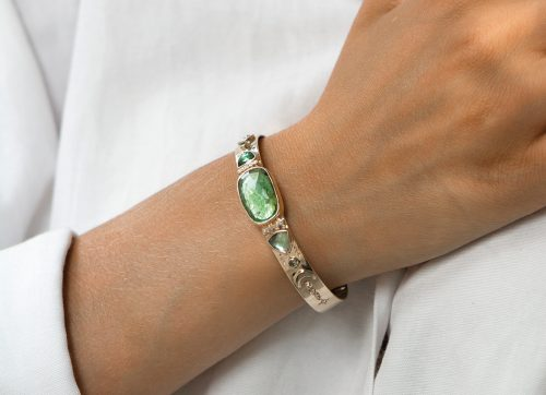 Celine Daoust Totem Green Tourmaline and Diamonds Bangle