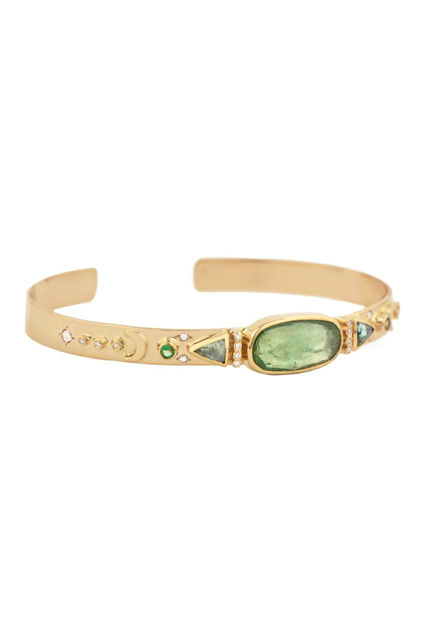 celine daoust Totem Tourmaline and diamonds Bangle