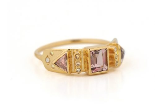 celine daoust totem pink tourmaline and diamonds ring