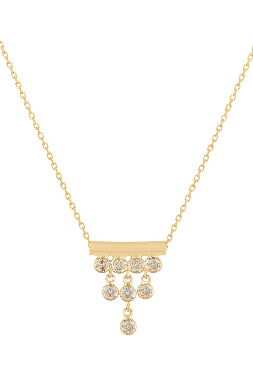 celine daoust multi dangling diamonds chain necklace