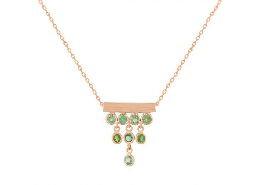 celine daoust multi dangling tourmaline chain necklace