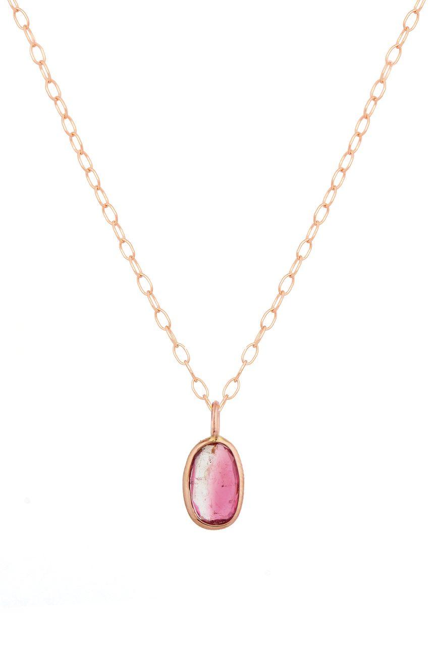 Celine Daoust one of a kind rose gold maya tourmaline necklace