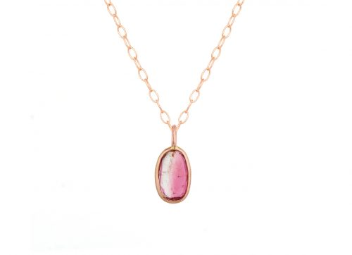 Celine Daoust one of a kind rose gold maya tourmaline necklace