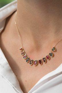 celine daoust one of a kind multi tourmaline necklace