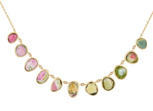celine daoust one of a kind multi tourmaline necklace