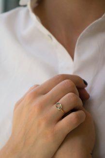 Celine Daoust green mint tourmaline ring