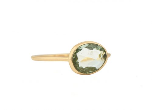 Celine Daoust green mint tourmaline ring