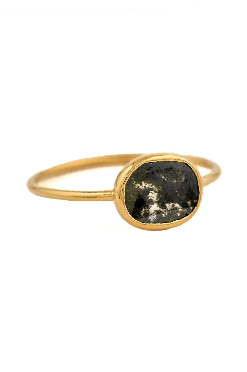Celine daoust yellow gold maya grey diamond ring