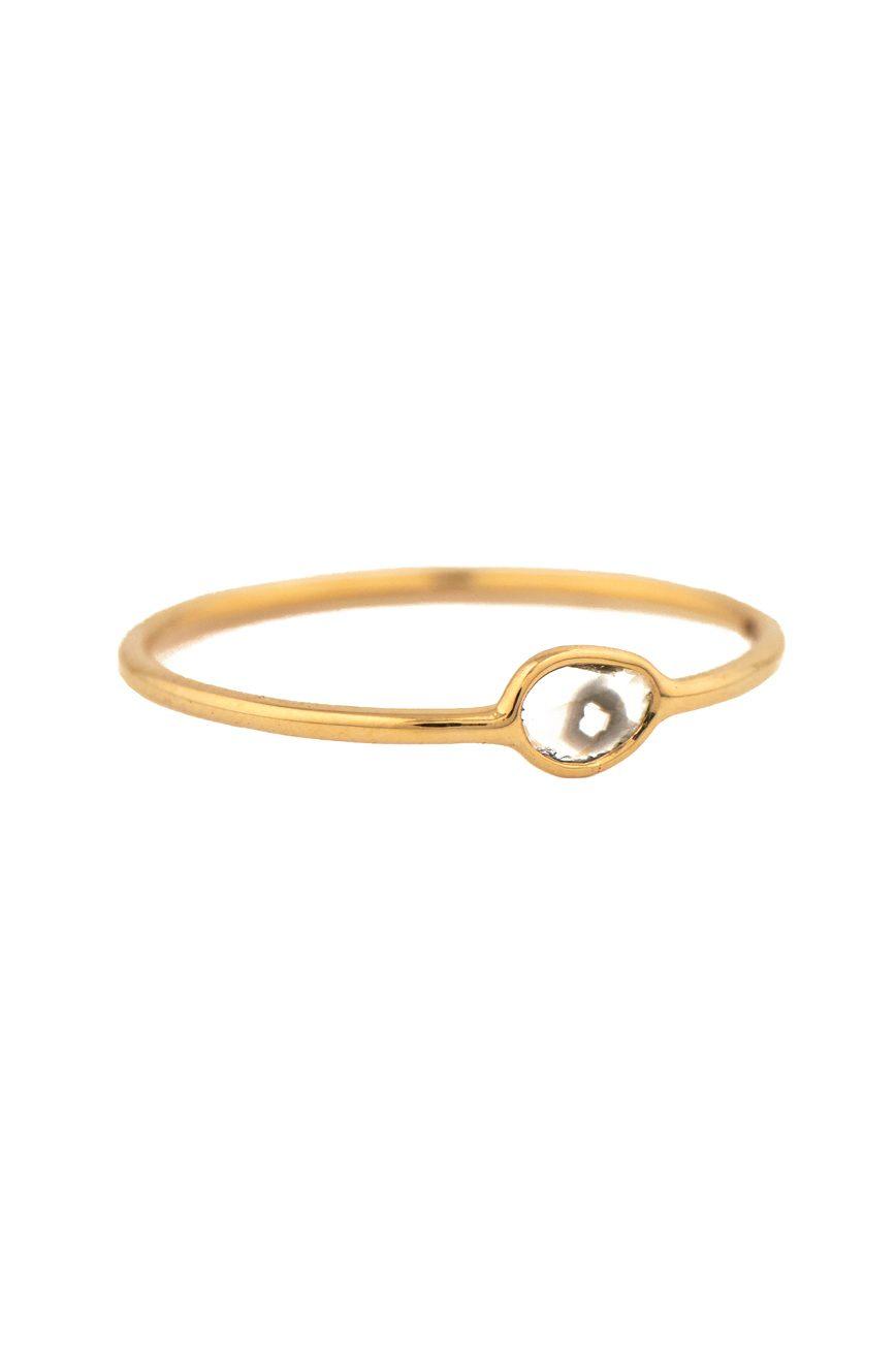 Celine daoust yellow gold maya grey diamond ring