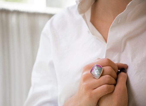 celine daoust one of a kind faye watermelon tourmaline ring