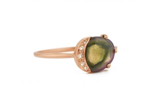 celine daoust one of a kind healing tourmaline and diamonds ring