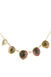Celine Daoust One of a Kind multi Tourmaline and one polki Diamonds Necklace