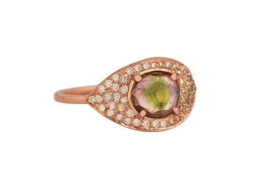 celine daoust one of a kind tourmaline and diamond full eye ring