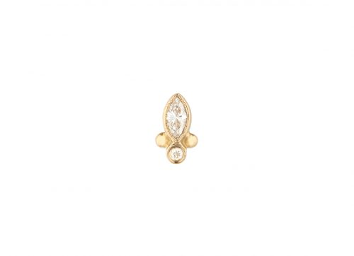 celine daoust protection and believes marquise diamond eye single earring stud