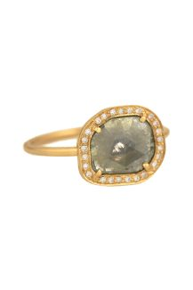celine daoust Slice of the universe Grey diamond slice and flush setting diamonds ring