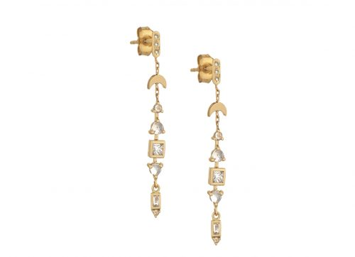 celine daoust one of a kind moonstone and diamonds earrings