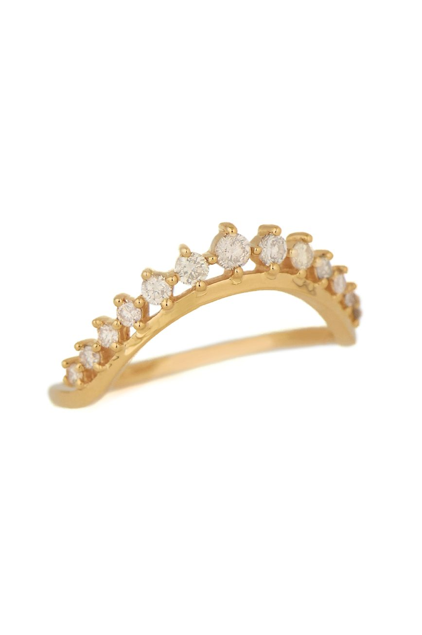 Celine Daoust Big Crown and diamonds Engagement Ring