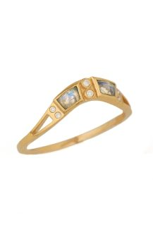 Celine Daoust Moonstone and diamonds Totem Engagement Ring
