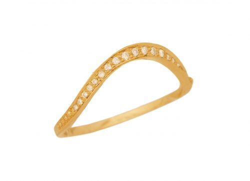 celine daoust simple wave and diamonds engagement ring