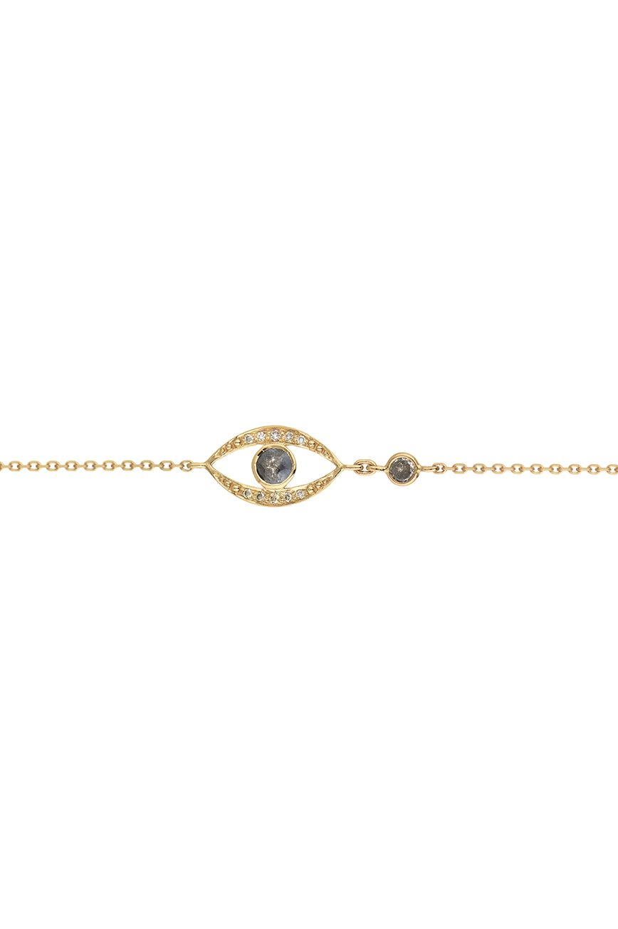 Celine Daoust Protection And Believes Grey Diamond Eye Chain Bracelet