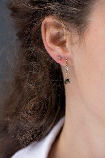 Celine Daoust Yellow Gold Single Sleeper Tourmaline Earring