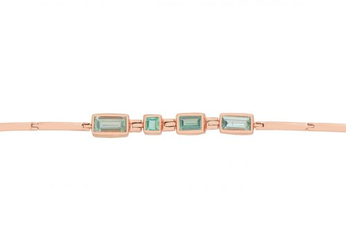 celine daoust one of a kind multi baguette tourmaline articulated bracelet