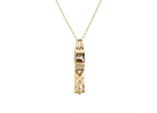 celine daoust totem tourmaline and diamonds small necklace