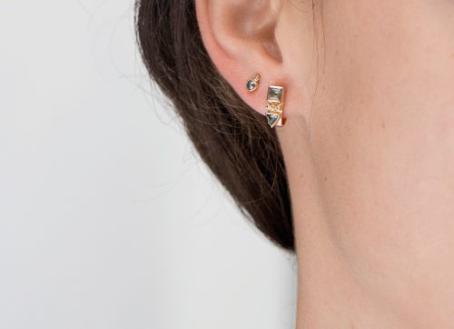 celine daoust totem tourmaline single hoop earring
