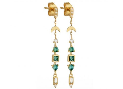 Celine Daoust One of a Kind Tourmaline and diamonds Earrings