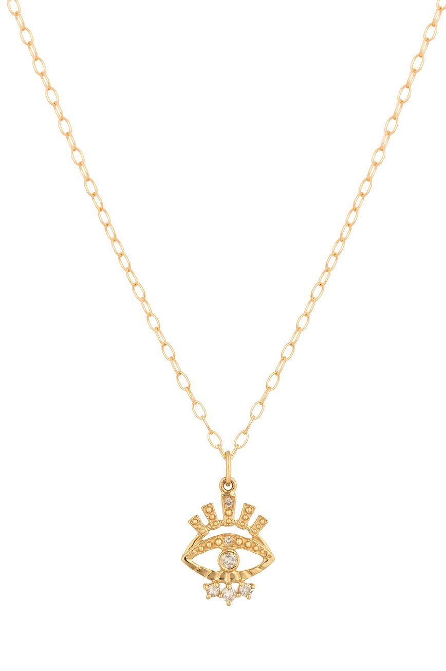Celine Daoust Protection and Believes Sun and Diamond eye Chain Necklace