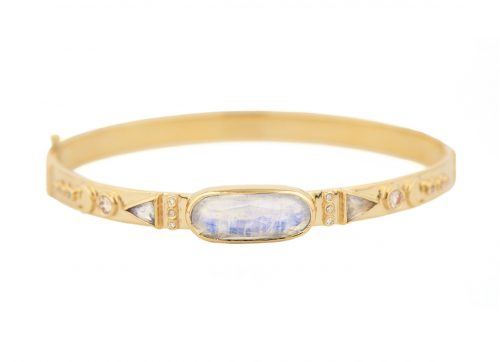 Celine Daoust Totem Moonstone and diamonds Bangle