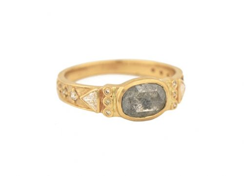 celine daoust totem grey diamonds and diamonds ring