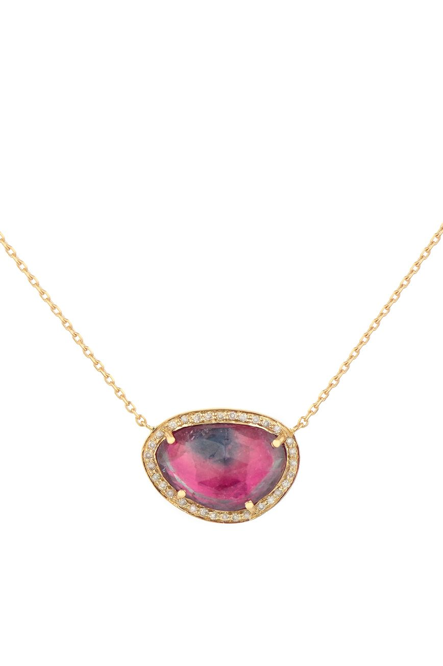 celine daoust one of a kind stella tourmaline and diamond necklace | Worldwide Shipping
