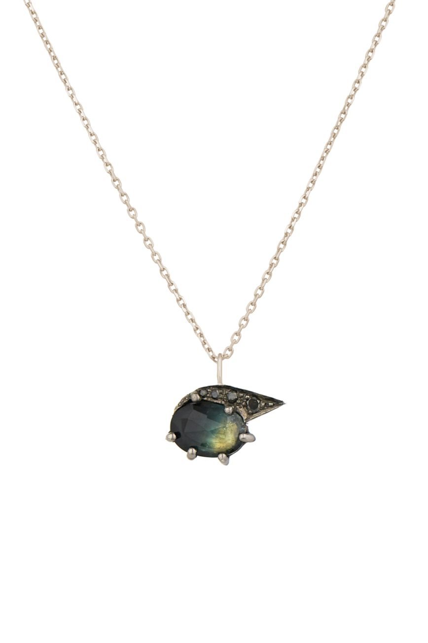 celine daoust protection and believes tourmaline and diamonds eye chain necklace