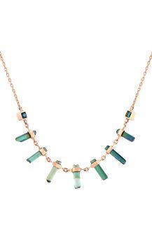 celine daoust chain necklace multi tourmalines rough pencil
