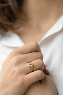 celine daoust protection and believes grey diamond diamonds and gold balls eye ring