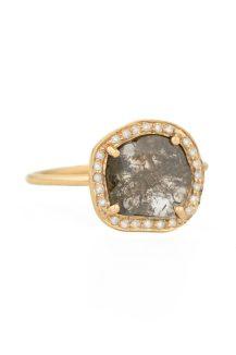 celine daoust Slice of the universe Grey diamond slice and flush setting diamonds ring