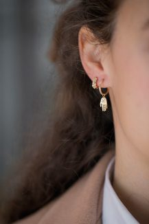 Celine Daoust Protection and Believes Mini Hand Protection Earring Charm