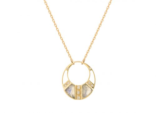 celine daoust stars and universe sun and diamond moon necklace