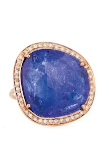 celine daoust one of a kind stella tanzanite and diamond ring